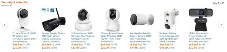 ตัวอย่างระบบแนะนำสินค้าในเว็บไซต์ Amazon